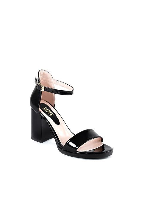 Sapin Kalın Topuklu Ayakkabı Siyah